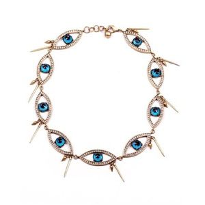 Brand new lulu frost crystal eyes necklace